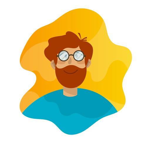flat-boy-with-vintage-glasses-avatar-vector-illustration